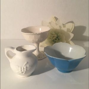 Other - Milk glass candy dish and more